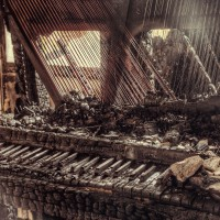 """Burnt Piano"" – © 2012 Gina Soden – All Rights Reserved"