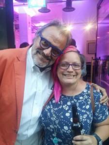 Gina Soden and Oliviero Toscani Master of Photography tv show Sky Arts
