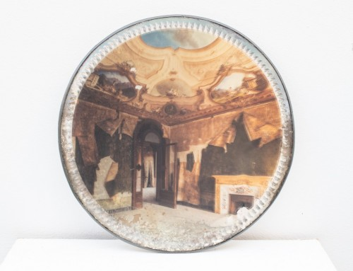 Baroque Villa on Foxed Mirror